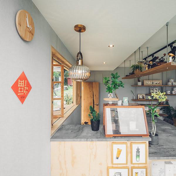 阿里山樟樹湖山角鐵茶屋櫃視覺設計