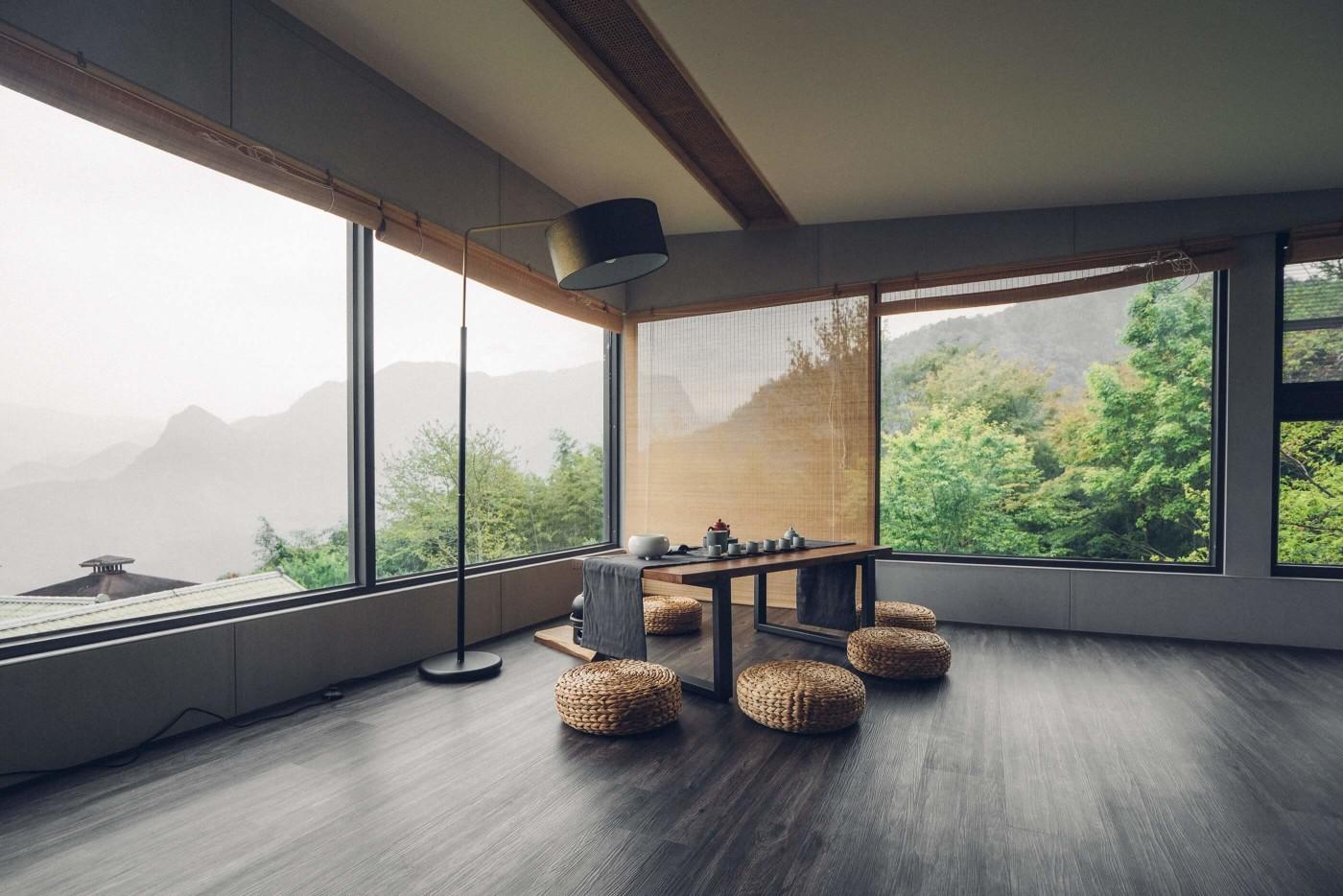 阿里山樟樹湖山角鐵茶屋二樓空間設計