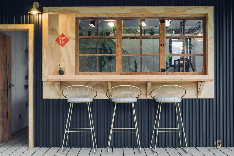 阿里山樟樹湖山角鐵茶屋吧檯設計
