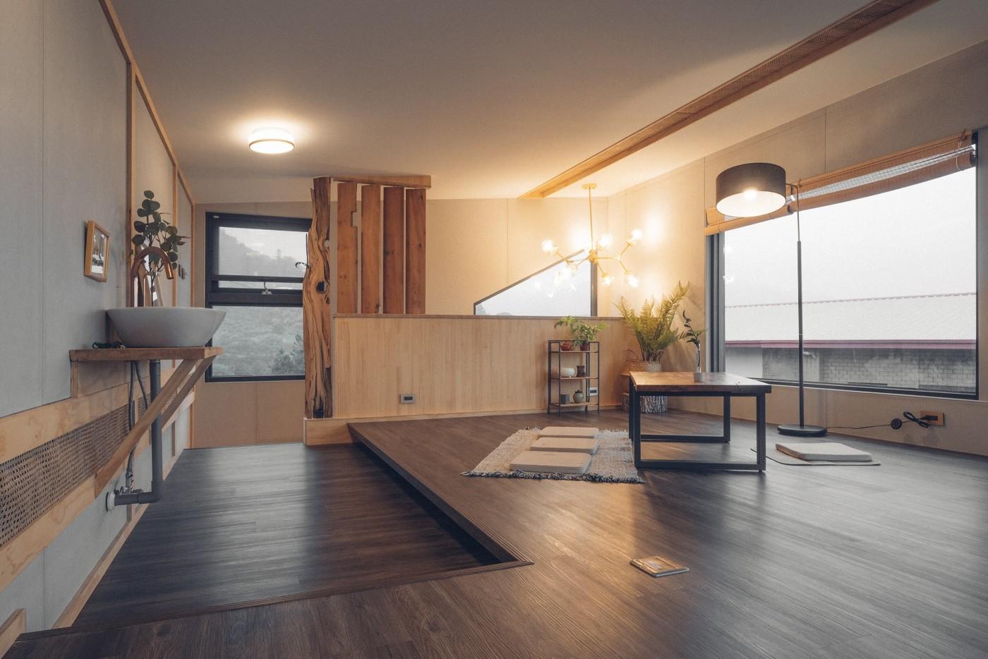 阿里山樟樹湖山角鐵茶屋二樓照明設計