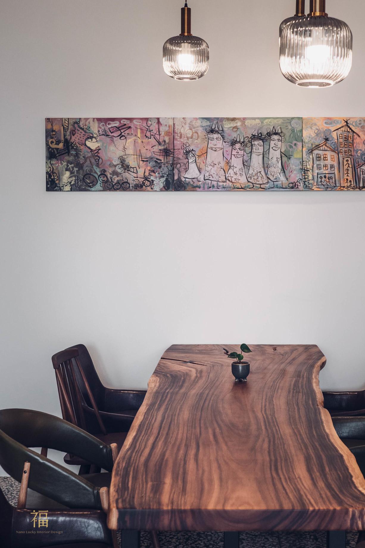 飛茉莉實木長桌