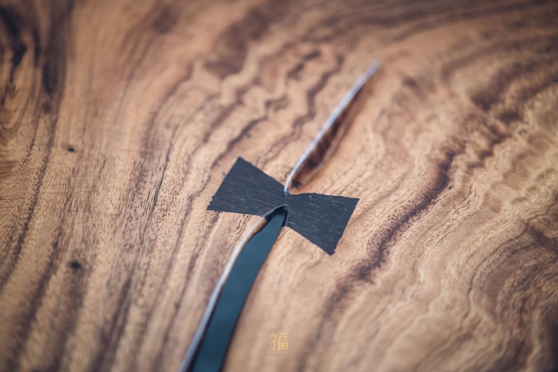 飛茉莉實木長桌蝴蝶榫