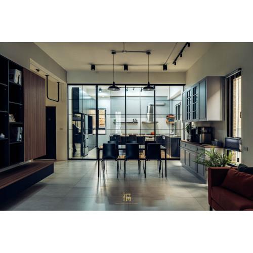 50坪自地自建透天美宅開箱,客餐廚格局穿透大增幅|小福砌空間設計