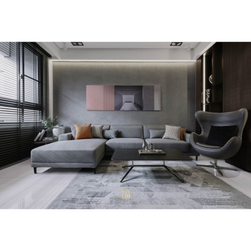 低調且內斂的複層住宅設計,灰與黑的空間和諧感|小福砌空間設計